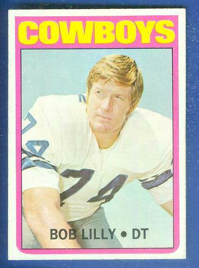 1972 Topps FB #145 Bob Lilly [#c] (Cowboys) Football cards value