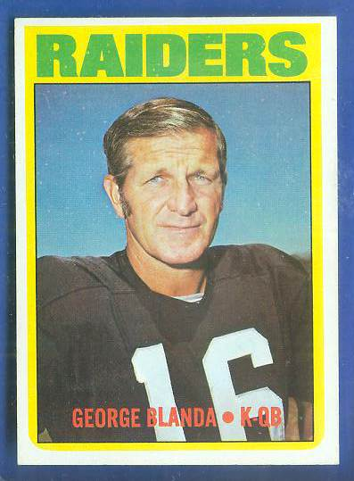 1972 Topps FB #235 George Blanda [#a] (Raiders) Football cards value