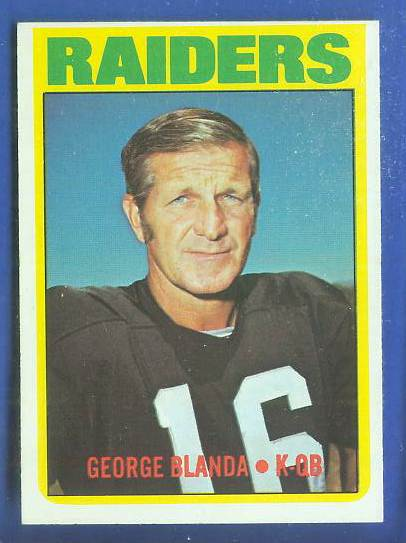 1972 Topps FB #235 George Blanda [#b] (Raiders) Football cards value