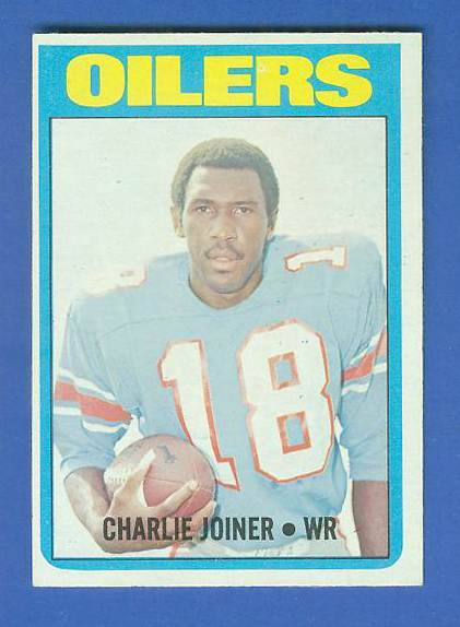 1972 Topps FB #244 Charlie Joiner ROOKIE [#c] (Oilers) Football cards value
