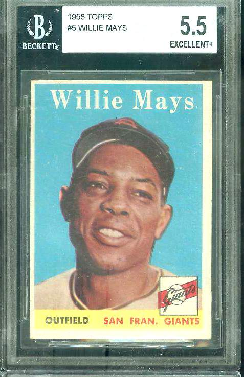 1958 Topps #..5 Willie Mays (Giants) Baseball cards value