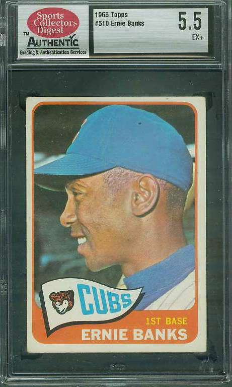 1965 Topps #510 Ernie Banks (Cubs) Baseball cards value