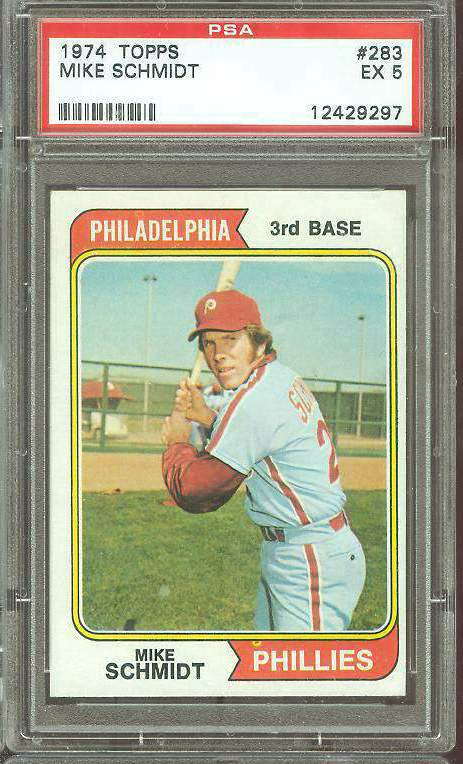 1974 Topps #283 Mike Schmidt (Phillies) Baseball cards value