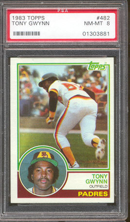 Tony Gwynn - 1983 Topps #482 ROOKIE [PSA-8 NM/MINT] (Padres) Baseball cards value