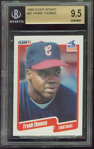 Frank Thomas - 1990 Fleer Update #87 ROOKIE [GEM MINT BGS-9.5] (White Sox) Baseball cards value