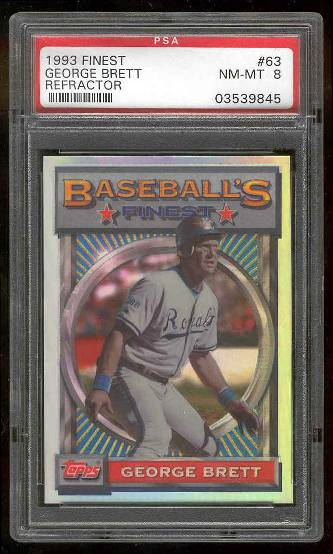 1993 Finest REFRACTOR #.63 George Brett (Royals) Baseball cards value