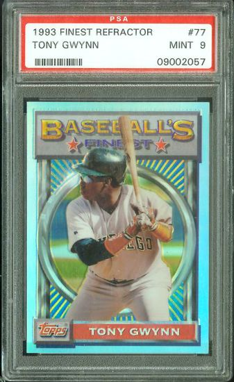 1993 Finest REFRACTOR #.77 Tony Gwynn (Padres) Baseball cards value