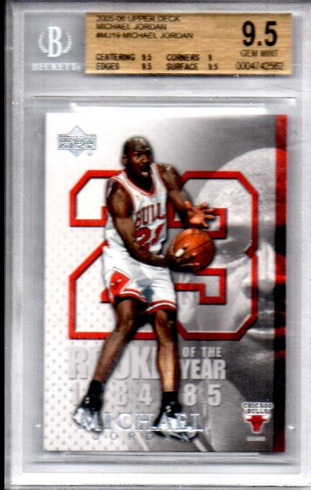 Michael Jordan - 2005-06 Upper Deck #MJ19 ROOKIE YEAR [GEM MINT BGS-9.5 !!] Baseball cards value