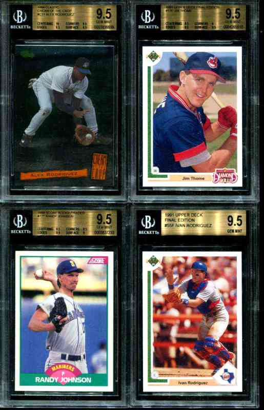 LOT [#x1] - (4) BASEBALL ROOKIES <B>[GEM MINT BGS-9.5 !!!]</B> Baseball cards value