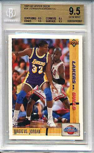 Michael Jordan/Magic Johnson - 1991-92 Upper Deck #34 [GEM MINT BGS-9.5 !!] Baseball cards value