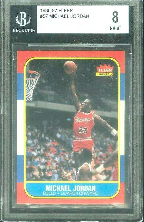 1986-87 Fleer Basketball #.57 Michael Jordan ROOKIE  (Bulls) Basketball cards value