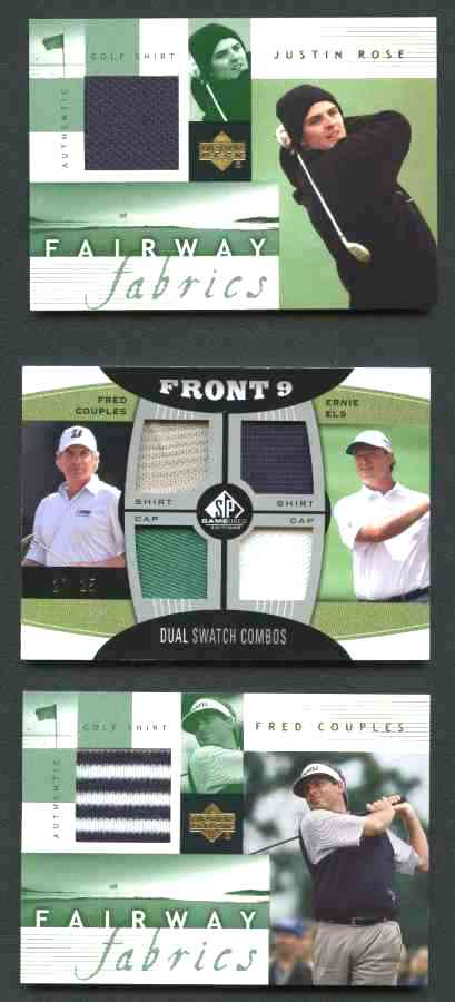 Freddie Couples/Ernie Els - 2012 SP Game-Used FRONT 9 - GOLF JERSEY pieces! Baseball cards value