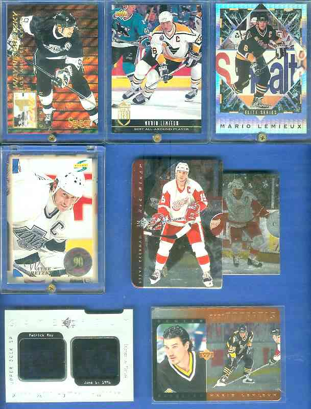 Mario Lemieux - 1993-94 Donruss ELITE #1 Hockey cards value