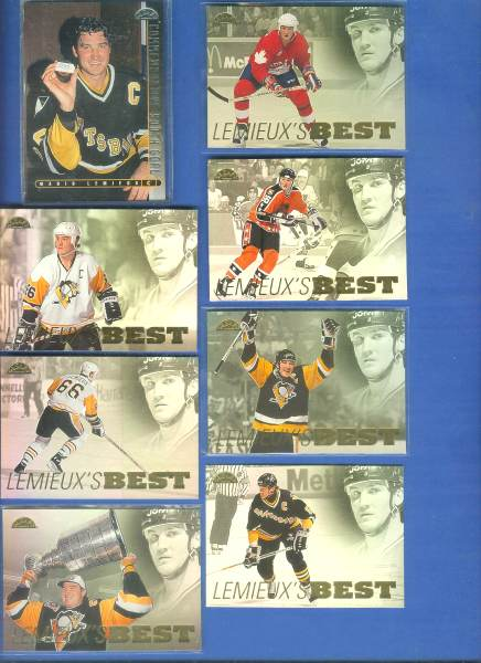 Mario Lemieux - 1995-96 Leaf 'MARIO LEMEIUX COMMEMORATIVE' Hockey cards value