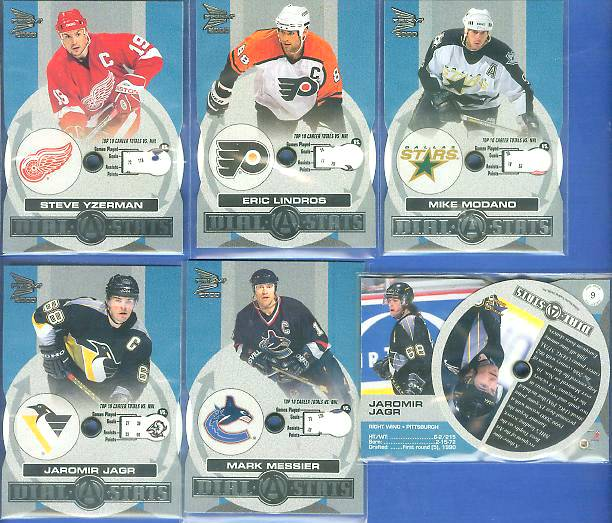 2000 Pacific Prism 'Dial-A-Stats' #.7 Steve Yzerman Hockey cards value