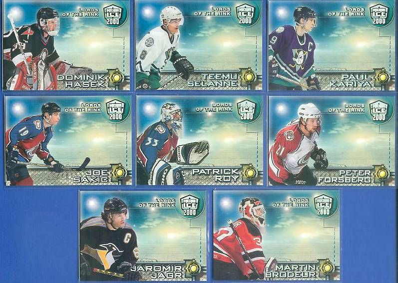 1999-00 Pacific Dynagon 'Lords of the Rink' #.6 Joe Sakic Hockey cards value