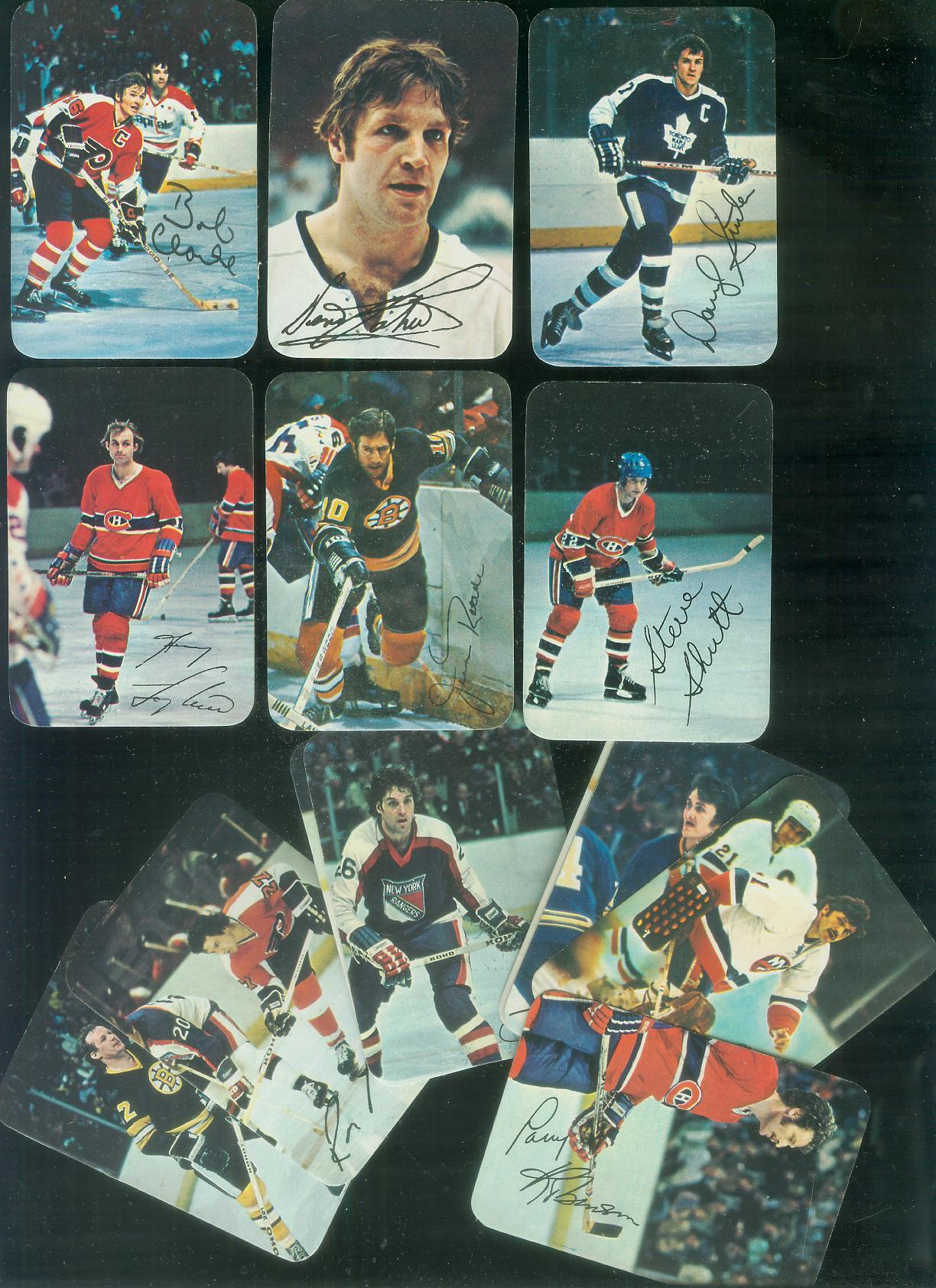 1977-78 Topps/O-Pee-Chee Hockey GLOSSY  - Lot of (14) different Hockey cards value