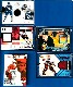 GAME-USED JERSEY/GLOVE/PUCK Hockey cards - Lot of (6)