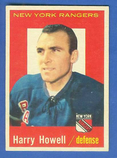 1959-60 Topps Hockey #20 Henry Howell (Rangers) Hockey cards value