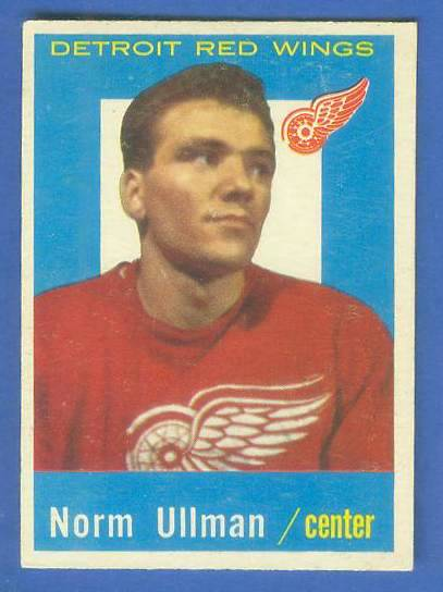 1959-60 Topps Hockey #45 Norm Ullman (Red Wings) Hockey cards value