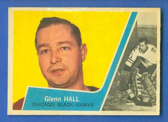 1963-64 Topps Hockey #23 Glenn Hall (Black Hawks) Hockey cards value