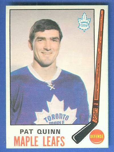 1969-70 O-Pee-Chee/OPC Hockey #186 Pat Quinn ROOKIE (Toronto Maple Leafs) Hockey cards value