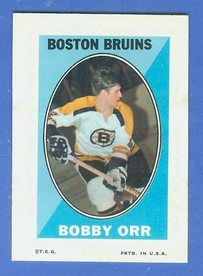 1969-70 O-Pee-Chee/OPC Hockey STAMPS - BOBBY ORR (Bruins) Hockey cards value