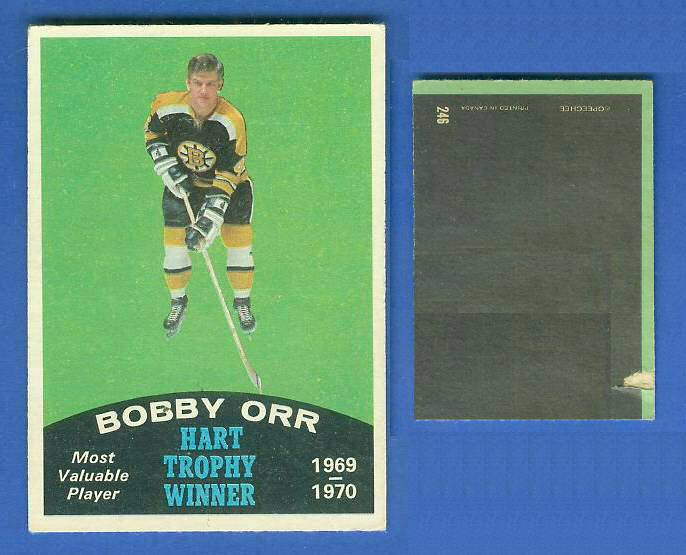 1970-71 O-Pee-Chee/OPC Hockey #246 Bobby Orr 'Hart Trophy Winner' (Bruins) Hockey cards value