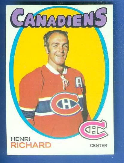 1971-72 Topps Hockey #120 Henri Richard (Canadiens) Hockey cards value