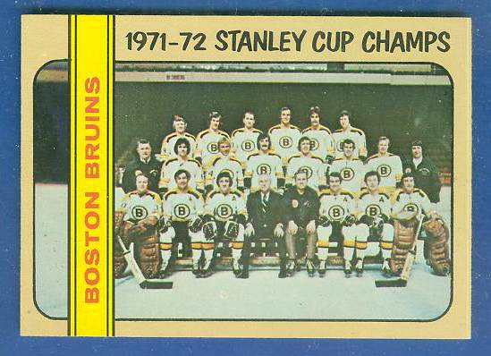 1972-73 Topps Hockey #..1 BOSTON BRUINS Stanley Cup Champs [#a] TEAM card Hockey cards value