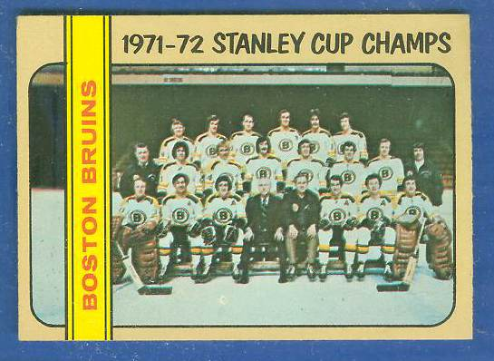 1972-73 Topps Hockey #..1 BOSTON BRUINS Stanley Cup Champs [#b] TEAM card Hockey cards value