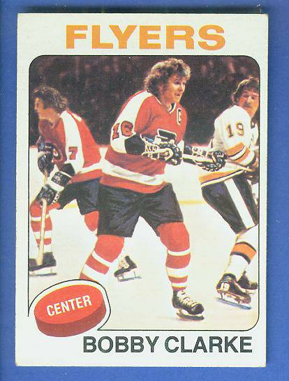 1975-76 Topps Hockey #250 Bobby Clarke (Flyers) Hockey cards value