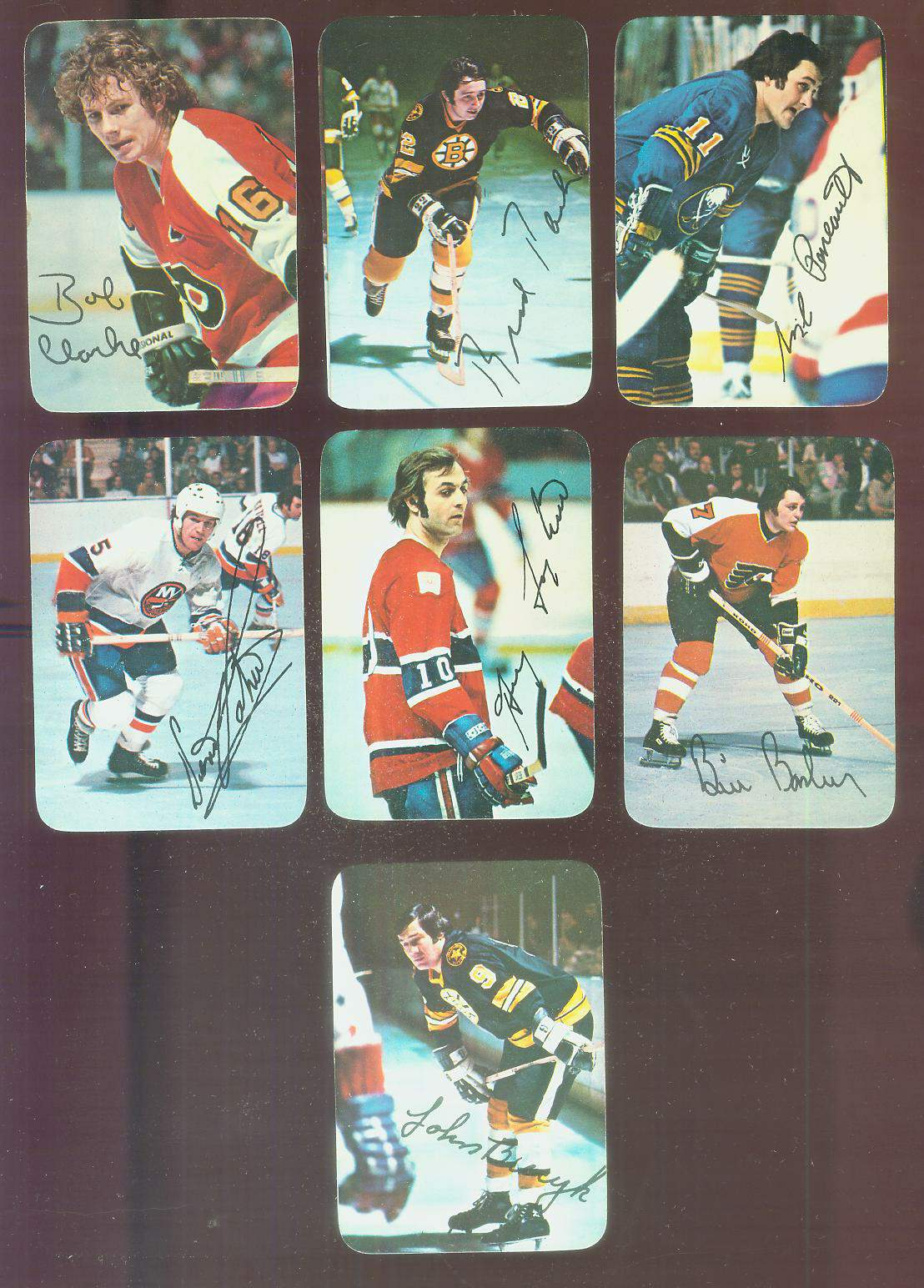 1976-77 Topps Hockey GLOSSY Inserts #12 Bill Barber Hockey cards value