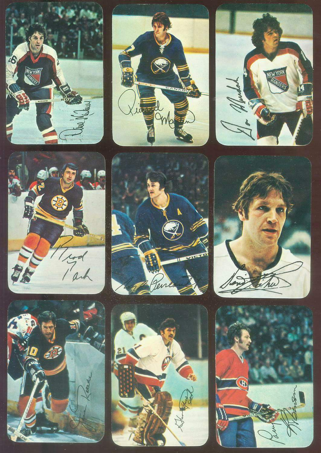 1977-78 Topps/O-Pee-Chee Hockey GLOSSY #11 Richard Martin Hockey cards value