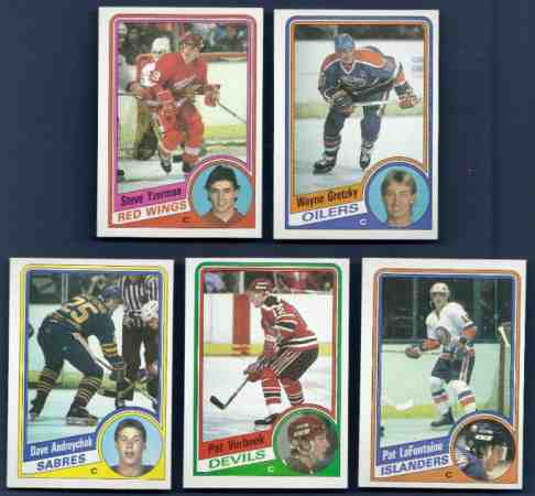 1984-85 Topps Hockey - Complete Set (165 cards) Hockey cards value