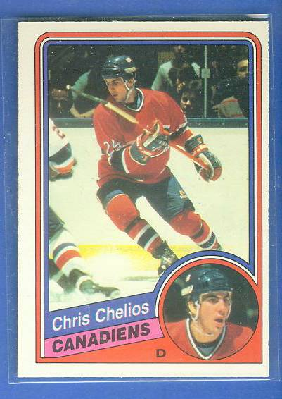 1984-85 O-Pee-Chee (OPC) #259 Chris Chelios ROOKIE (Canadiens) Hockey cards value