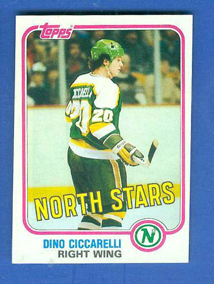 1981-82 Topps #W105 Dino Ciccarelli ROOKIE Hockey cards value