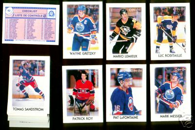 1987-88 O-Pee-Chee/OPC Mini Leaders Hockey - COMPLETE SET (42 cards) Hockey cards value