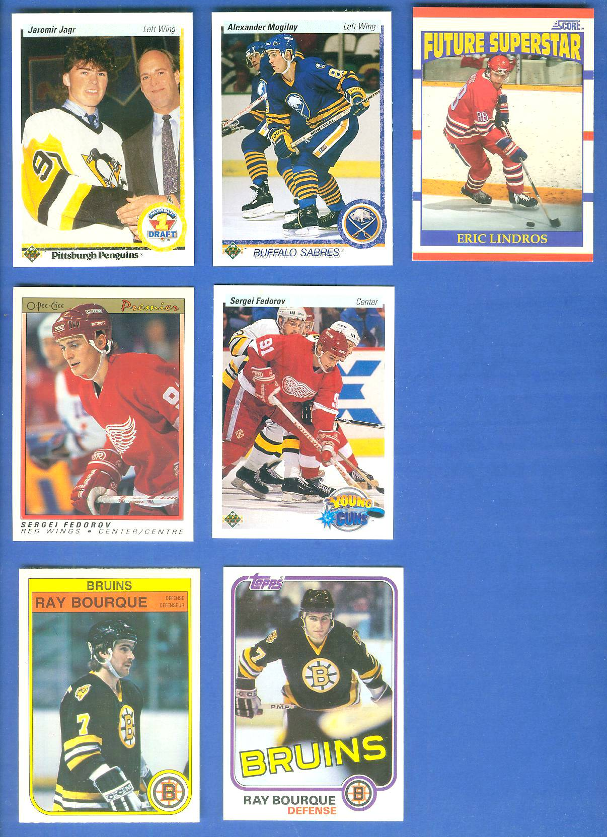 1990-91 Upper Deck #356 Jaromir Jagr ROOKIE (Penguins) Hockey cards value