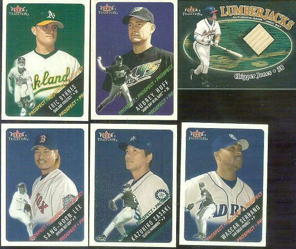 2000 Fleer Glossy #464 Eric Byrnes ROOKIE Baseball cards value