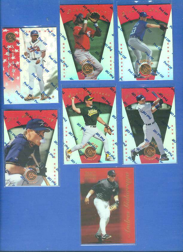 1997 Pinnacle Certified MIRROR RED #123 Glendon Rusch Baseball cards value