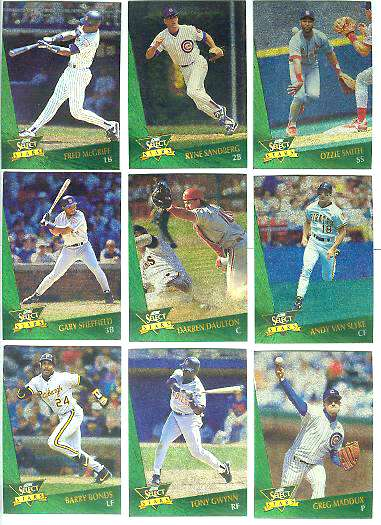 1993 Select 'CHASE STARS' #.2 Ryne Sandberg Baseball cards value