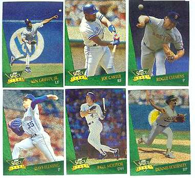 1993 Select 'CHASE STARS' #21 Roger Clemens Baseball cards value