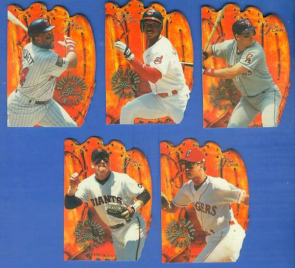 1994 Flair 'HOT GLOVE'  - Lot of (5) Different w/KIRBY PUCKETT Baseball cards value
