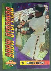 1994 Church's 'SHOW STOPPERS' #.2 Barry Bonds (Giants) Baseball cards value
