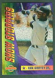 1994 Church's 'SHOW STOPPERS' #.3 Ken Griffey Jr (Mariners) Baseball cards value