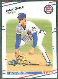 1998 Fleer Tradition Decade of Excellence #.6 Mark Grace (Cubs) Baseball cards value