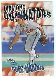 1999 Sports Illustrated 'DIAMOND DOMINATORS' #..4 Greg Maddux (Braves) Baseball cards value