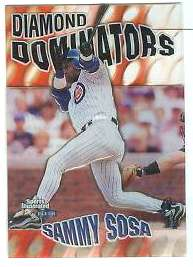1999 Sports Illustrated 'DIAMOND DOMINATORS' #..7 Sammy Sosa (Cubs) Baseball cards value
