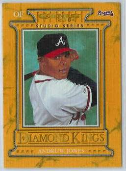 Andruw Jones - 2004 Donruss Diamond Kings STUDIO SERIES #DK-7 (Braves) Baseball cards value